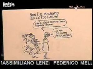 Una delle vignette di Vauro che hanno sollevato critiche